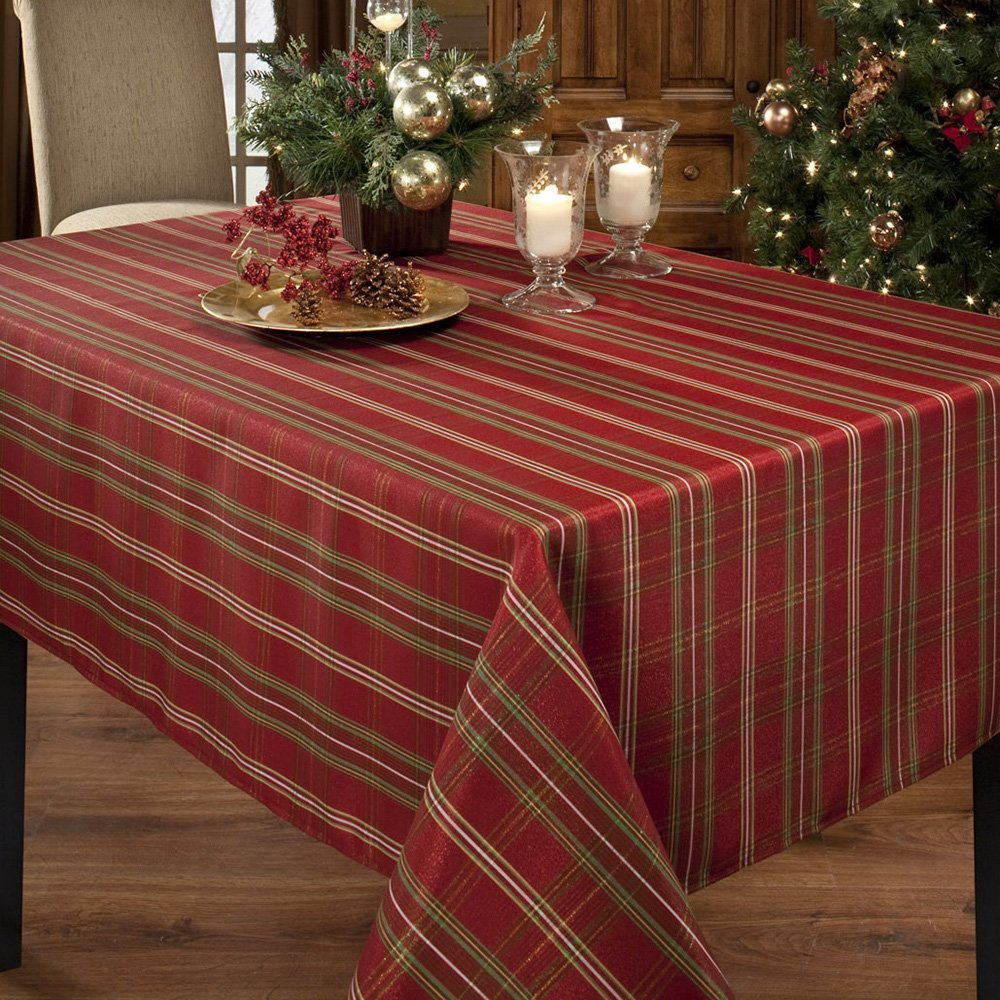 Christmas Metallic red Fabric Tablecloth Dining Table Cover Kitchen Home Textile Home decor(China (Mainland))