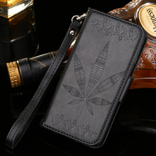 Wallet Card Slots Photo Frame Maple Leaves Leather Case Stand Asus Zenfone 2 Laser ZE500KL 5.0 inch ZE550KL 5.5 - Kristar Telecommunication Co., Ltd store
