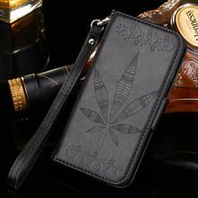 Wallet Card Slots Photo Frame Maple Leaves Leather Case Stand Asus Zenfone 2 Laser ZE500KL 5.0 inch ZE550KL 5.5 - Kristar Telecommunication Co., Ltd store