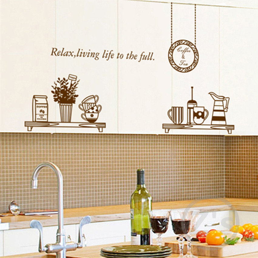 kitchen wall decals removable wall sticker home decoration ...
