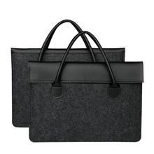 Buy Fashion Black Felt Laptop Bag Macbook Retina 13 Business style handbag Macbook Air Pro 11 12 13.3 inch Waterproof Bag for $19.99 in AliExpress store