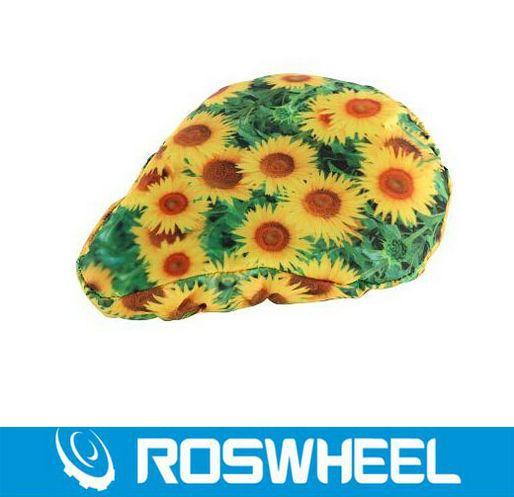 Super Sale! New Roswheel Cycling Bike Saddle Sun prints Comfortable Cushion Soft Pad Bicycle Seat Cover(China (Mainland))