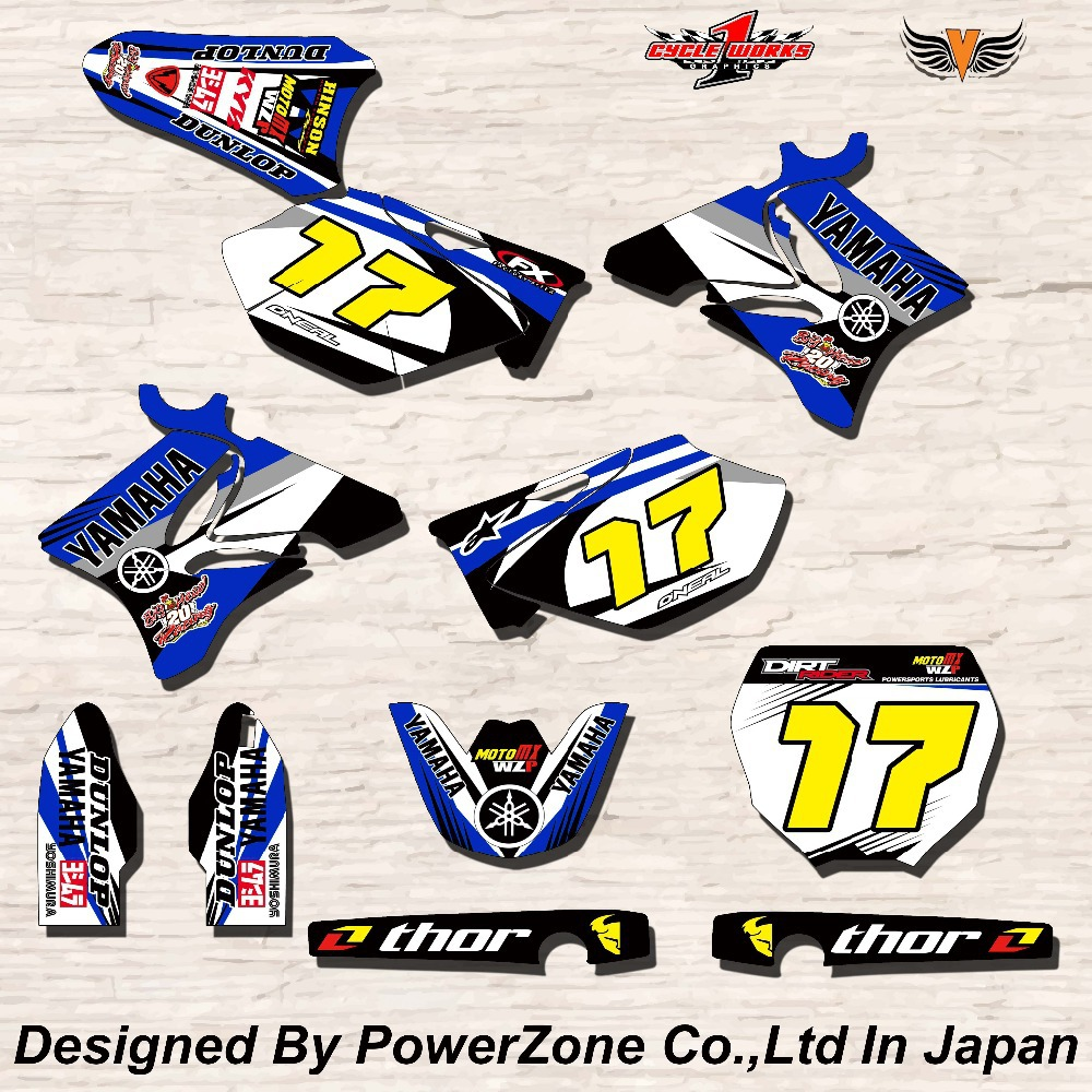 WR YZ YZF 125 250 400 450 Team Graphics Backgrounds Decals Stickers Motor cross Motorcycle Dirt Bike MX Racing Parts YGR031(China (Mainland))