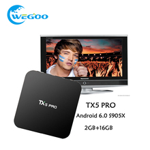 Buy Hot TX5 Pro Android 6.0 TV BOX 2G/16G Amlogic S905X Media Player HD 4K Fully TV 16.1 Dual Wifi Quad core Set Top TV Box for $48.37 in AliExpress store