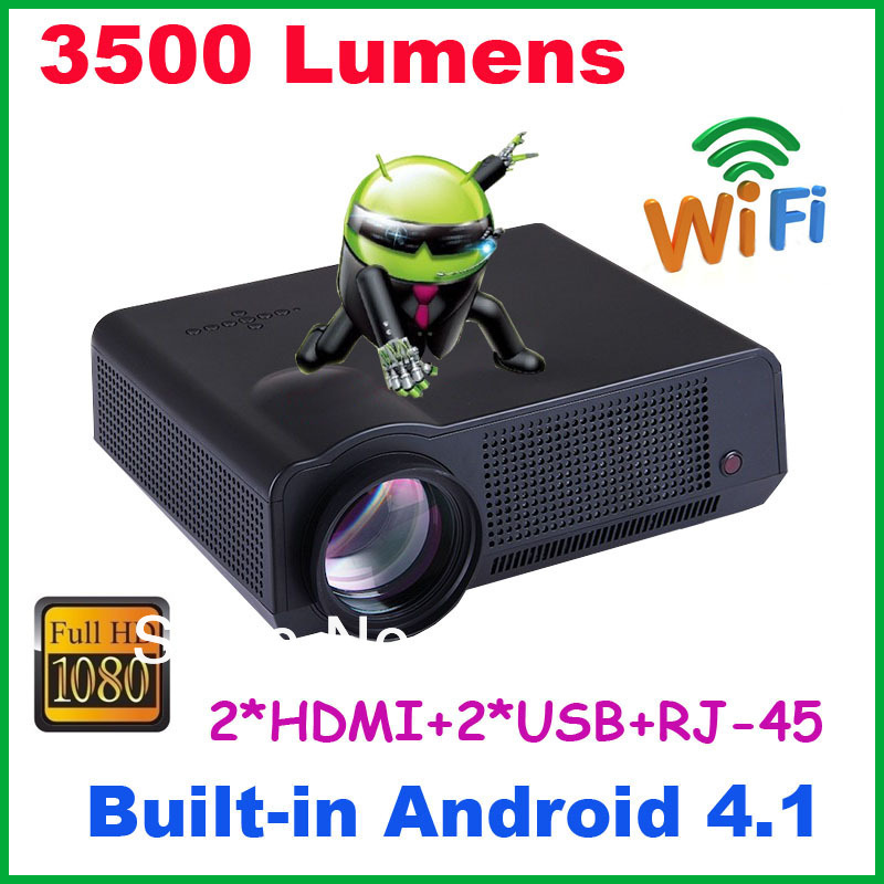 New arrival! home theater digital projector 3500 lumens video projector full hd support XBOX, PS3, Wli and game console(China (Mainland))