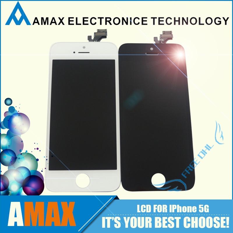 10 шт./лот ааа класса оригинальный жк-дисплей в сборе замена для iPhone 5 5 г