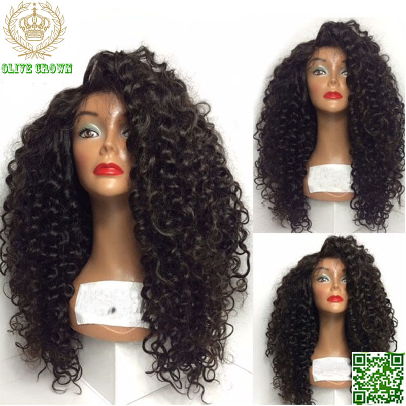 Virgin Human Hair Loose Curly Malaysian Lace Front Wig 150 Density Full Lace Human Hair Wigs Glueless Lace Wig With Baby Hair(China (Mainland))