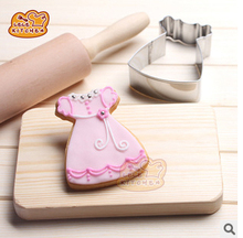 1pcs Princess Dress Shape Stainless Steel Cookie Cutter,Cookies Cutting Tools, Wedding Decoration Biscuit And Cookie Mold