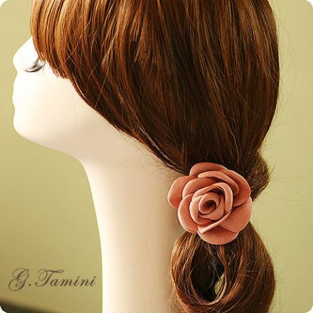 Suede Nap Curling Selvedge Chinese Rose Flower Elastic Band For Hair Flowers For Hair Accessories(China (Mainland))