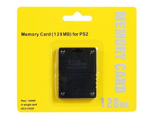 10PCS Plastic Real 128MB Memory Card for PS2 --Black (With Retail Package)<br><br>Aliexpress