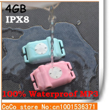 Best Quality Waterproof sport MP3 Player 4GB water resistance IPX8 mp3 Headsets supports Lossless music - Free shipping(China (Mainland))