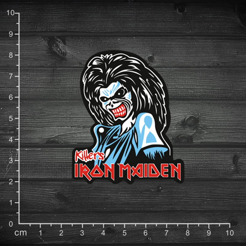 Iron Maiden Depeche Mode AC/DC The Rolling Stones Tongue Doctor Who Rock Roll Music Stickers Vinyl Paper Sticker Waterproof(China (Mainland))