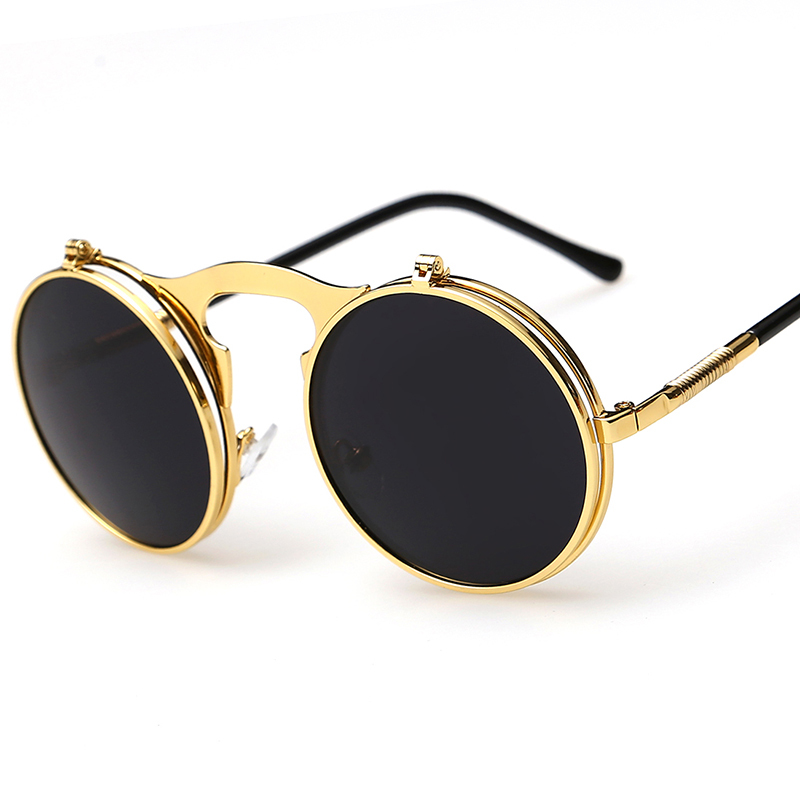 Men s Round Gold Frame Sunglasses : sunglasses sport Picture - More Detailed Picture about New ...