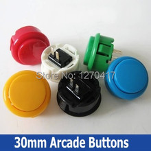 100pcs Free Shipping! Factory Price Wholesale High Quality 30mm Arcade Push Buttons Cabinet Amusement Games Machine's Parts