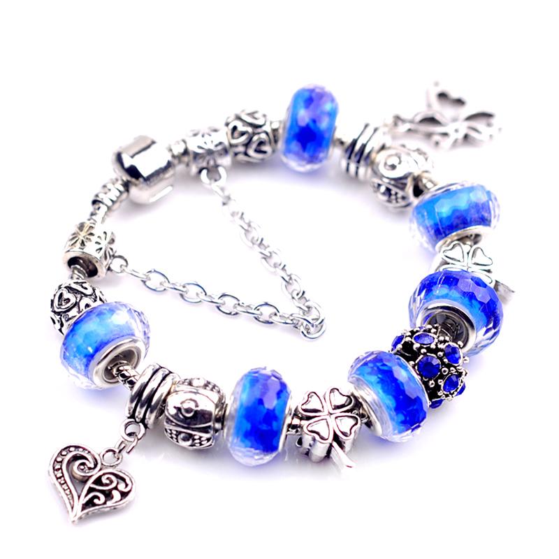 2016 Fashion Bracelets & Bangles Beads Charm Bracelets For Women Valentine's Day Gift(China (Mainland))