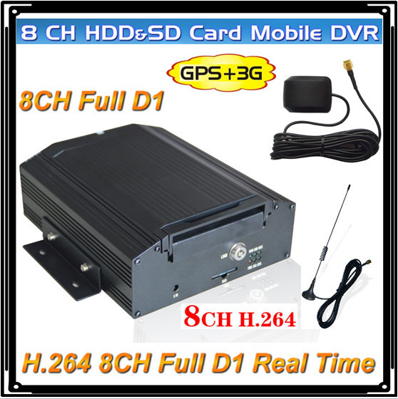 3G/GPS/8CH Realtime Video Mobile Car DVR 8ch full d1 video solution(China (Mainland))