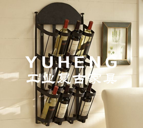 French rustic loft wall wine racks, wrought iron furniture industry imitation rust do the old wine rack wine rack(China (Mainland))