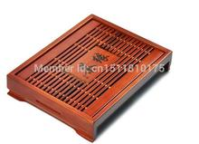 Hot Sale! Free Shipping Coffee & Tea Sets  33*25*6 cm Solid Wood Tea Tray Chinese Kung Fu Tea Set High Quality