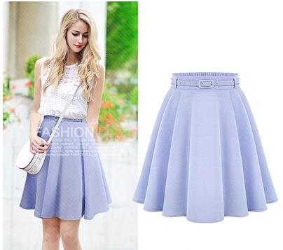 summer style high waist knee length skirts casual