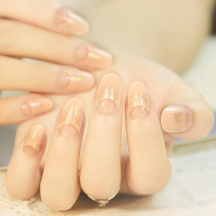 Natural Pink Glitter Round