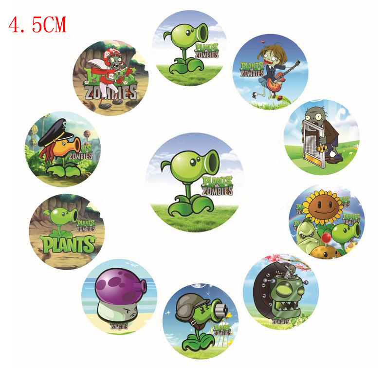 New! Wholesale 2015 4.5cm Mixed Style 1000PCS Design Plastic Round Cute Lovely Button Badge Pin Badge Kids(China (Mainland))