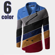 Trench Pea Coat Mens Long Coat Men Wool Blend Trench Coat Manteau Homme Warm Double-Breasted Abrigos Hombres invierno Largo(China (Mainland))