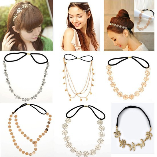 Women Fashion Metal Head Chain Jewelry Headband Head Piece Hair band(China (Mainland))