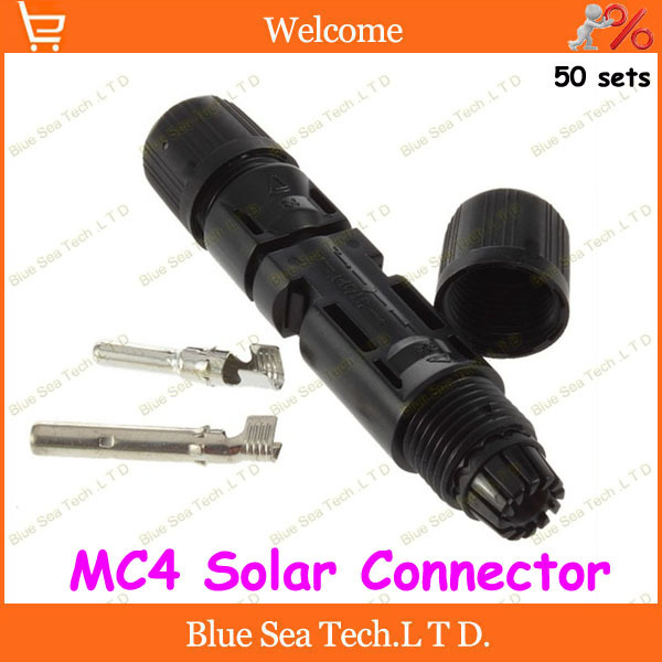 50sets total 200pcs IP67 PV connector set MC4 solar connector male&amp;female+terminal kits for solar panel 2.5-4.0mm2 Free shipping<br><br>Aliexpress