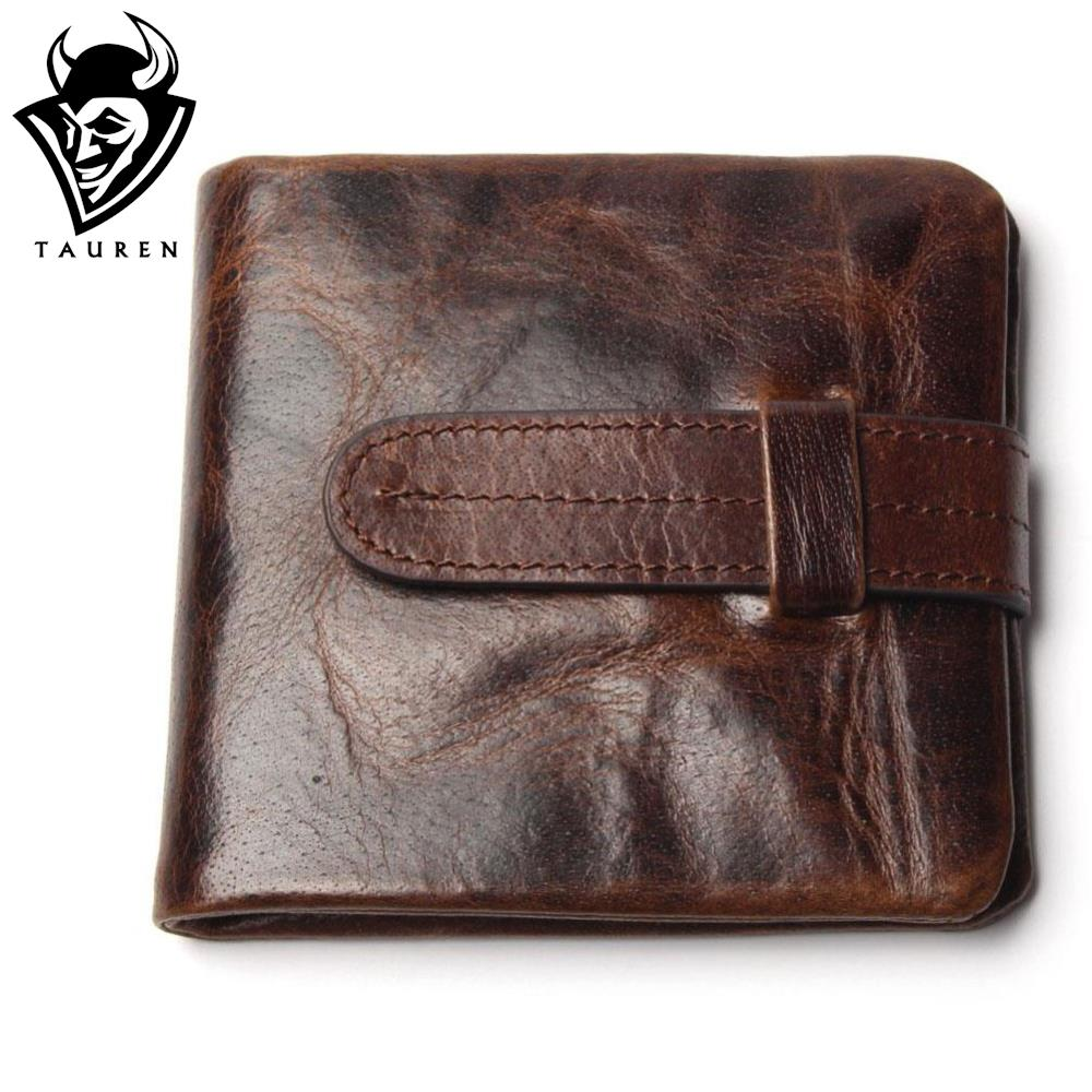 Luxury Vintage Casual 100% Real Genuine Cowhide Oil Wax Leather Men Short Bifold Wallet Wallets Purse Coin Pocket Male Zipper(China (Mainland))
