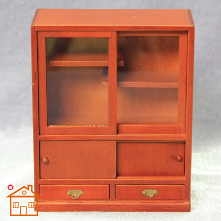 1:12 doll house furniture mini furniture Cabinet Bookshelf nostalgic Display cabinet Double door with drawer cabinet Gabinete(China (Mainland))