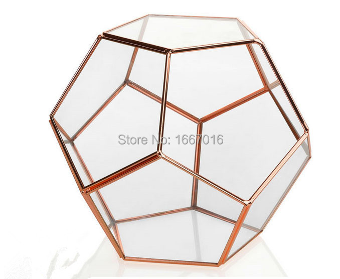 Retro style rose gold color wedding decoration glass for Deco maison rose gold