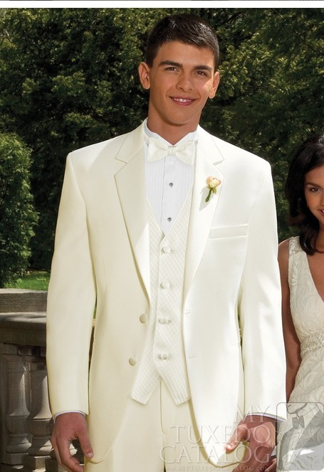 Mens wedding suits 2013 men ivory 39 troy 39 tuxedo slim for Mens ivory dress shirt wedding
