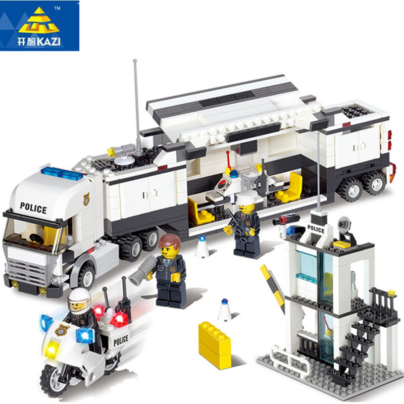 Police Station Building Blocks Compatible With Legoe 511pcs Bricks Educational Toys Model Building Kits DIY Truck Car Kids Toys(China (Mainland))