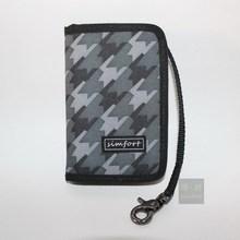 Simfort любит дизайнер многоцветной молнии кошелек сеть бумажник туристические кошелек светло-розовый камуфляж цвета(China (Mainland))