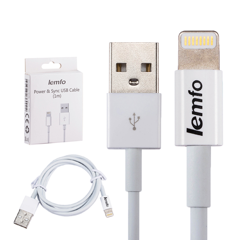 USB Charging Cable 1m Connector Sync Data Cords Charger Cable for iphone 5 5s 6 6 plus for ipad air 1 2 With Retail Package Hot(China (Mainland))