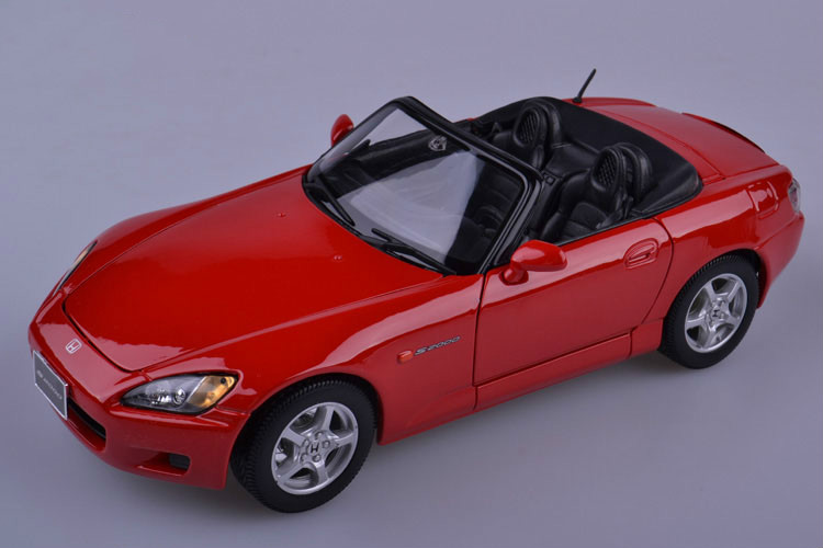 1:18 Voiture Car Modern Brinquedos For Classical S2000 Red Die Cast Metal Car Model Kids Toys Men Gift Collection(China (Mainland))