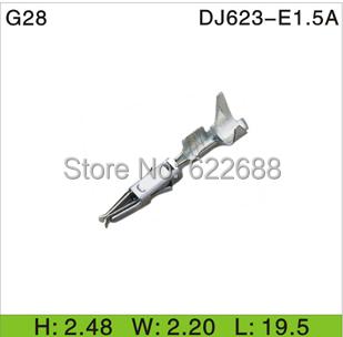 DJ623-E1.5A G28 wire terminal Crimp Non-insulated automobile electrical female block connector - Online Store 622688 store