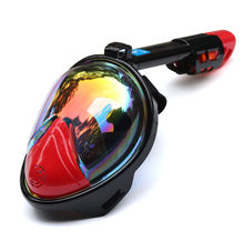 Duikbril Onderwater Scuba Anti Fog Volledige Gezicht Duikbril Snorkelen Set met Anti-slip Ring Snorkel 2018 Nieuwe collectie(China)