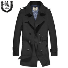 2016 mew arrival spring autumn double breasted medium-long mercerizing trench men's large outerwear plus size S M L XL 3XL4XL5XL(China (Mainland))