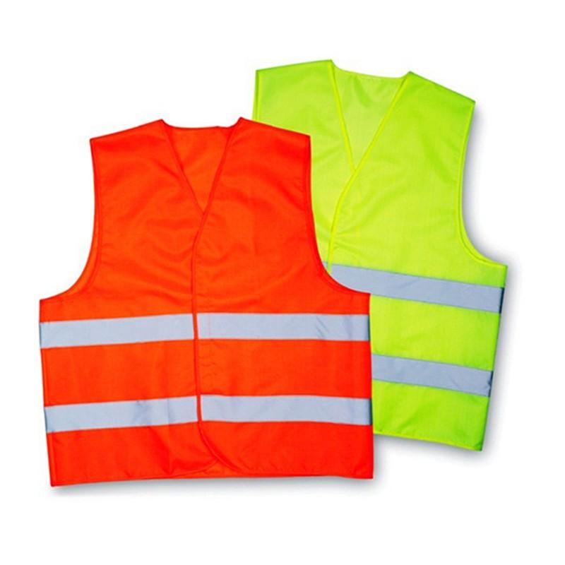 Полиэстер безопасности светоотражающий жилет одежда рабочая одежда обеспечивает высокое видимость для работает на велосипеде ходить