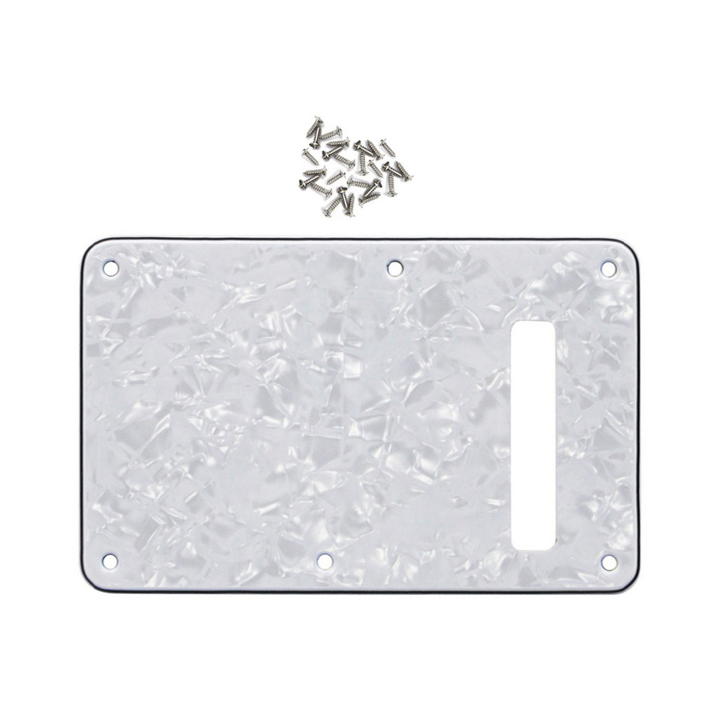 White Pearl 4Ply Guitar Tremolo Cover Left-handed Back Plate for Strat Guitar(China (Mainland))