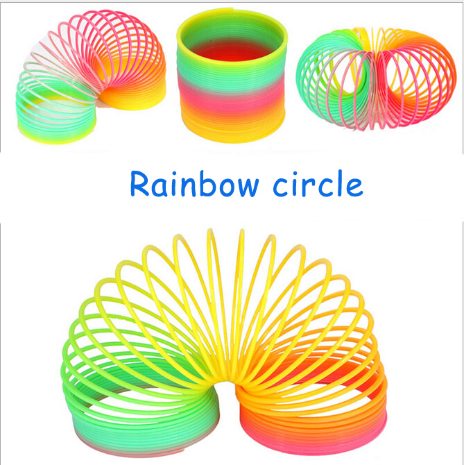 New Magic Slinky Rainbow Springs Bounce Fun Toy Kid Children Toy freeshipping<br><br>Aliexpress