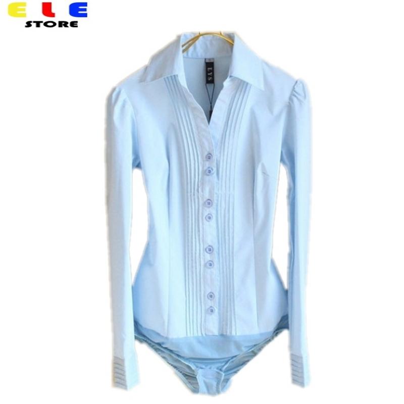 Plus Size Autumn Womens Blouses Tops Fashion 2015 White Long Sleeve Shirt Women Cotton Formal Body Shirts Blouses Clothing(China (Mainland))