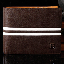 New 2015 Men Wallets Brands Famous Mens Wallet Male Money Purses Soft ID Card Case Fashion Classic Soild Pattern Designer Wallet