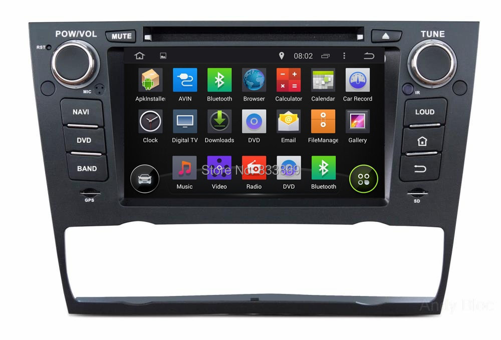 HD 1 din 7 Android 4 4 Car DVD Player GPS Navi for BMW E90 E91