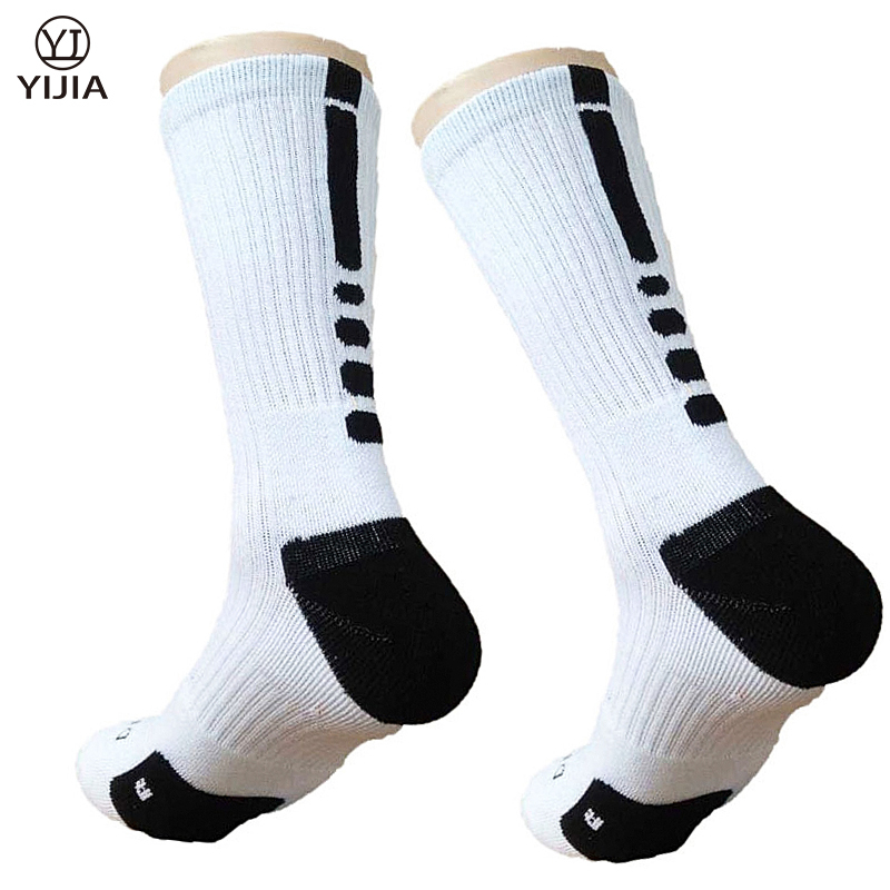 Autumn Winter Men Basketballs Socks Comfortable Male Cotton Terry Knee Protection In Tube Sock Youths Socks Meias Masculina(China (Mainland))