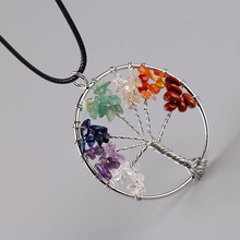 Buy Fashion Women Rainbow 7 Chakra Tree Life Quartz Chips Pendant Necklaces Multicolor Wisdom Tree Natural Stone Necklace Jewelry for $1.26 in AliExpress store