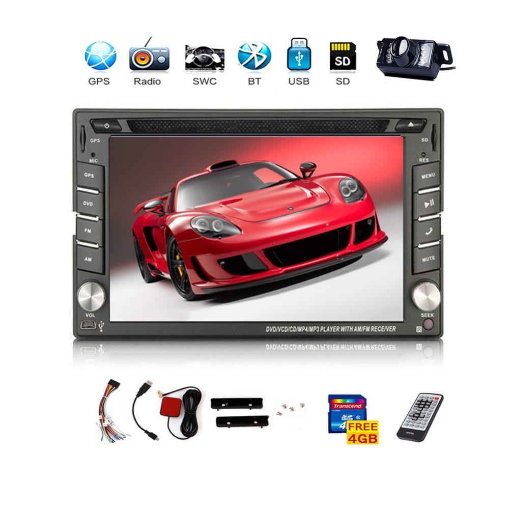 USA Stock Free Camera 6 2 2 din GPS Navigation Car DVD CD Video Player HD