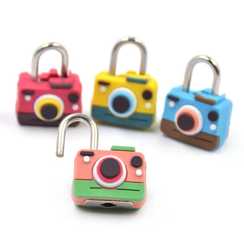 Random Color 1Pc Cute Cartoon Camera Shape Security Travel Suitcase Luggage Bag Lock Padlock<br><br>Aliexpress