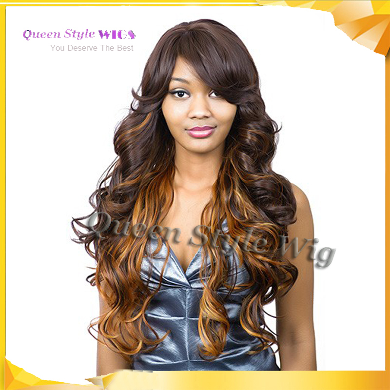 queen style wig valentine collection synthetic wig pino color